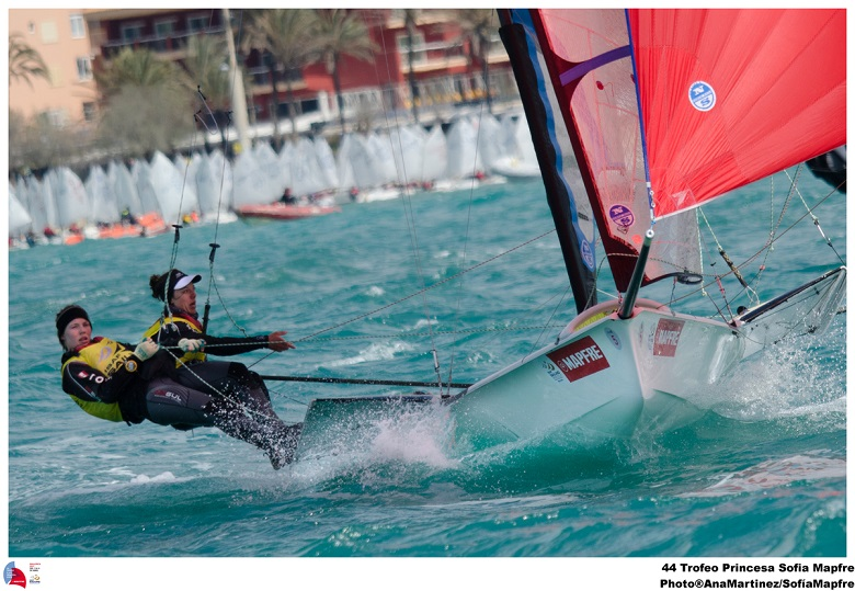 Ida Nielsen and Marie Olsen win the 2013 world cup of sailing - palma